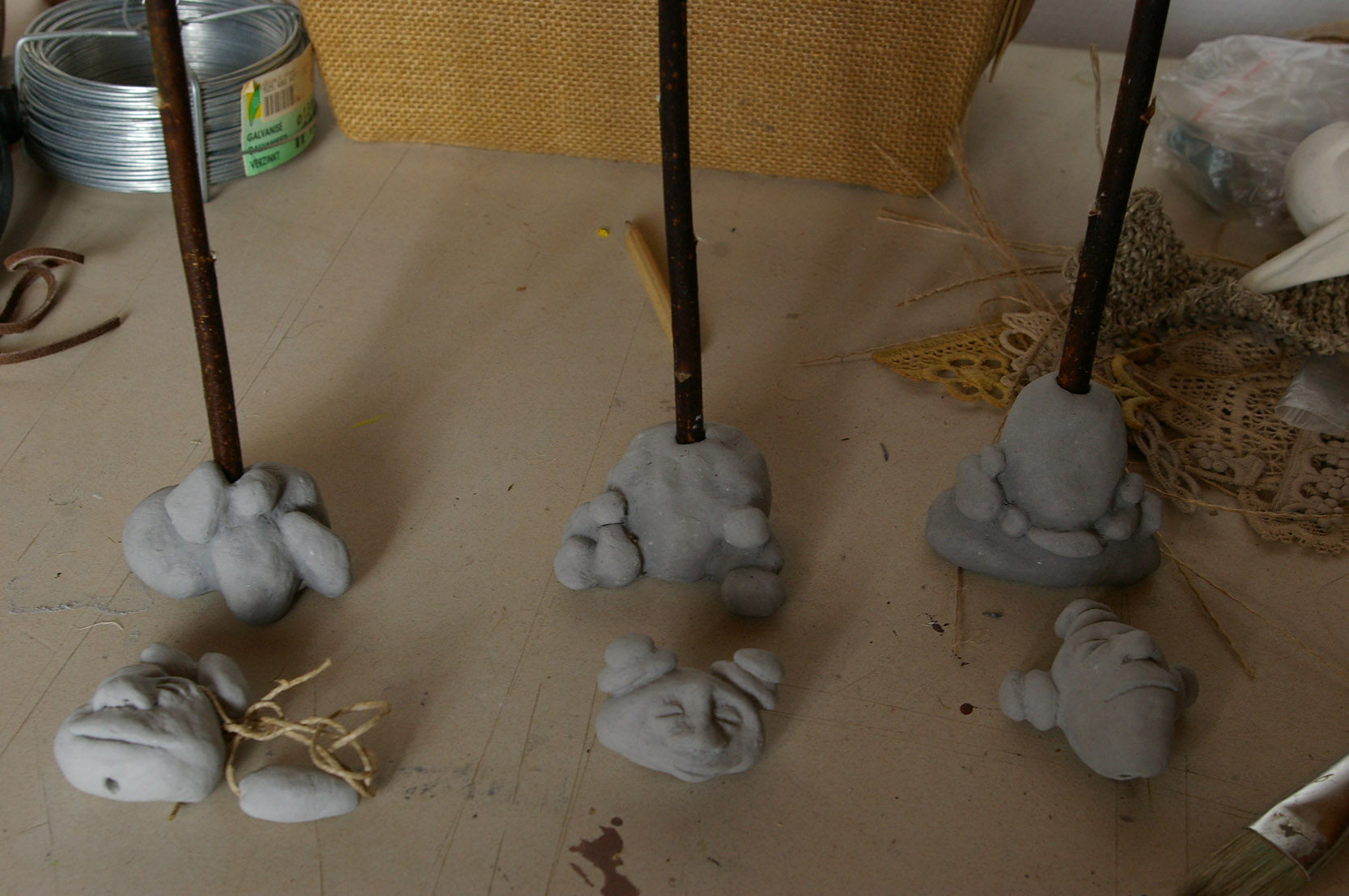 Pebble People clay sculpting figurines