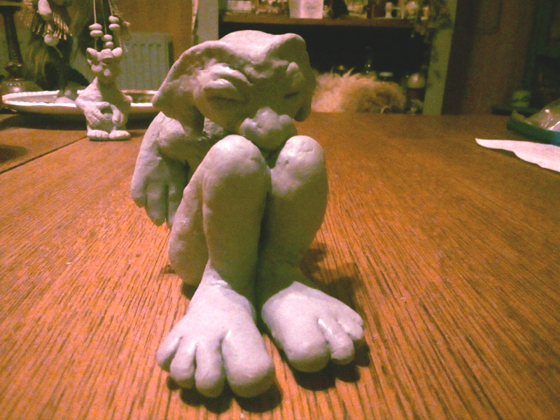 clay figurine gargoyle fantasy creations ooak art creatures fairy tale magical imagination dream handcrafted fantasie sprookjes kunst